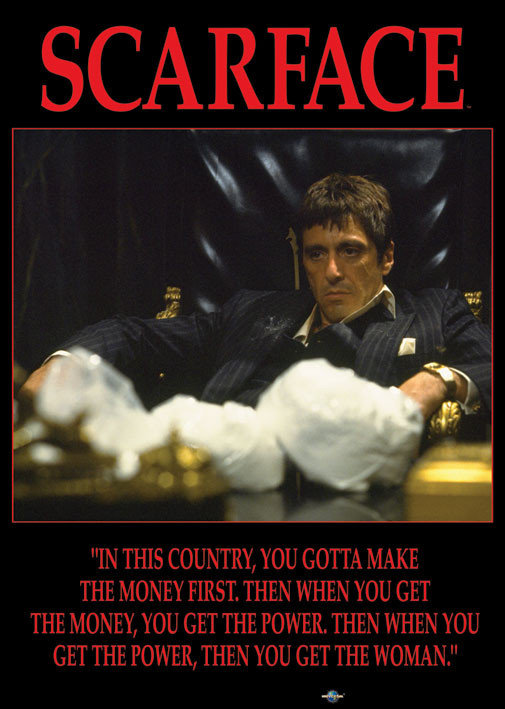 scarface power poster