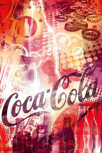 coca cola graphic poster affiche acheter le sur. Black Bedroom Furniture Sets. Home Design Ideas