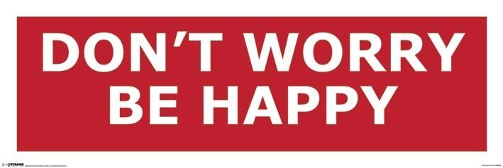 Don't worry be happy Affiche