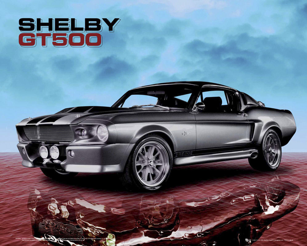 ford shelby mustang gt500 sky poster affiche acheter. Black Bedroom Furniture Sets. Home Design Ideas
