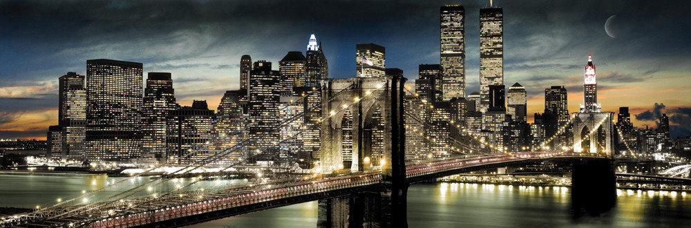 Manhattan - night and moon Affiche