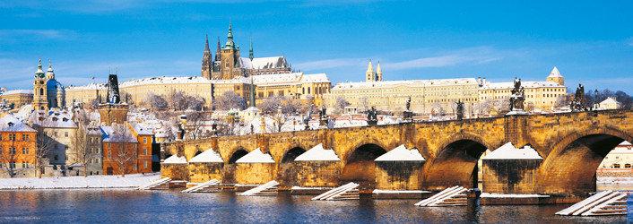 Prague – Prague castle / winter Affiche