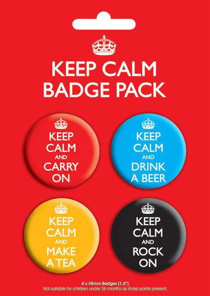 Keep Calm Badge Pack Sold At Europosters