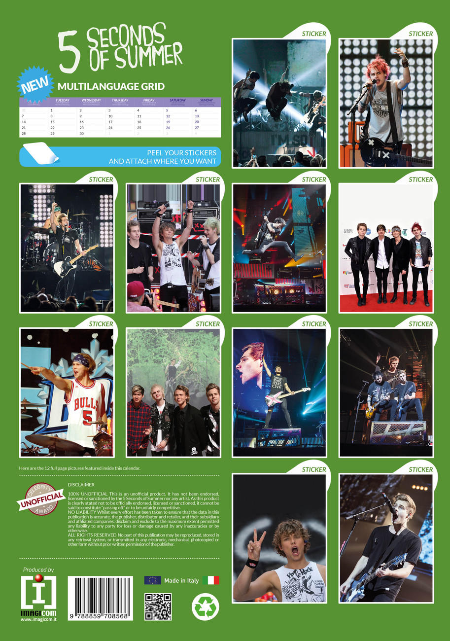 5SOS 5 Seconds Of Summer FULL SET Bedroom Wall Art Prints Christmas Present