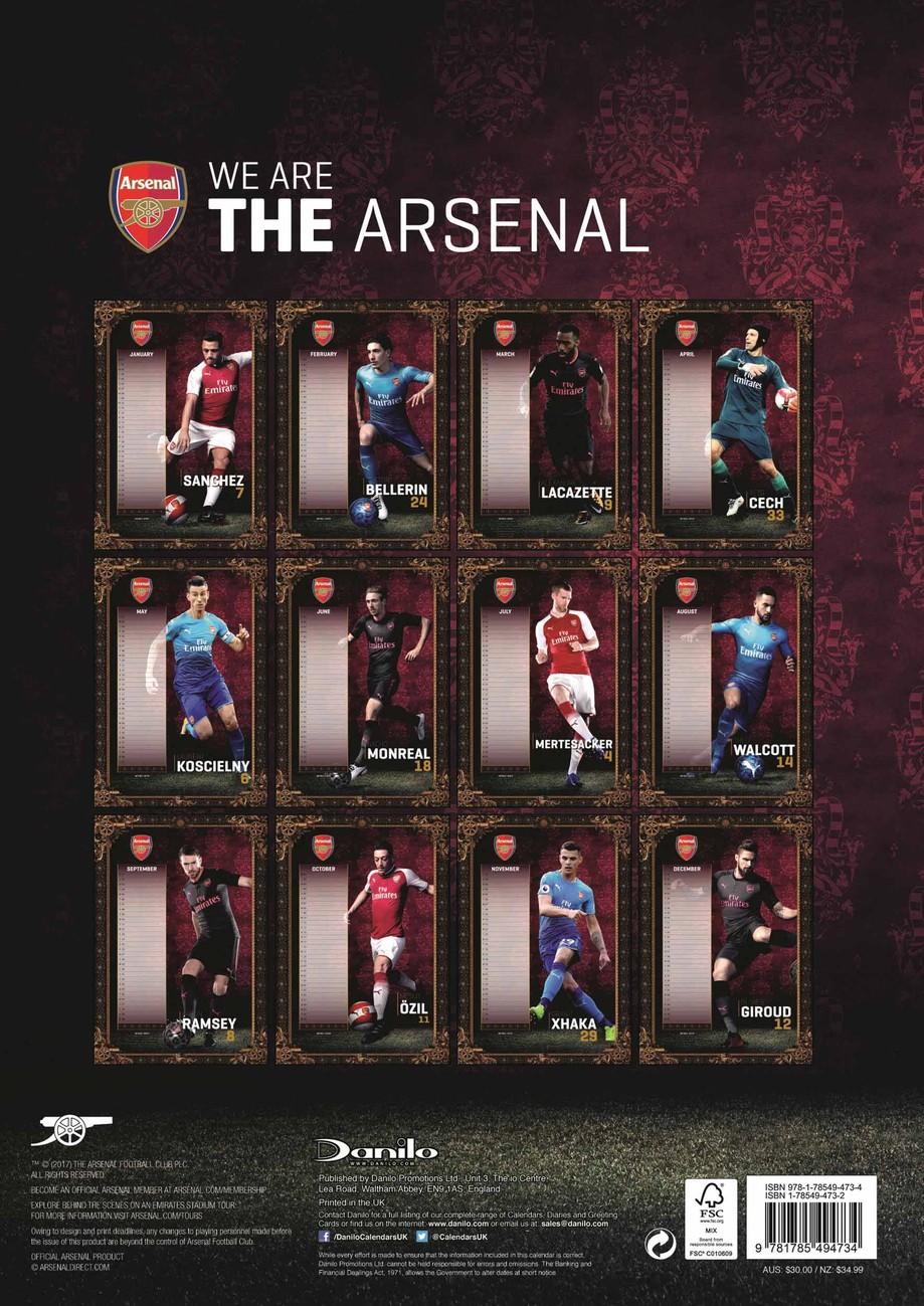Arsenal Calendars 2019 On Ukposters Ukposters