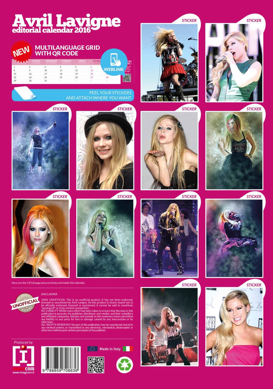 Avril Lavigne   Calendars on UKposters/EuroPosters