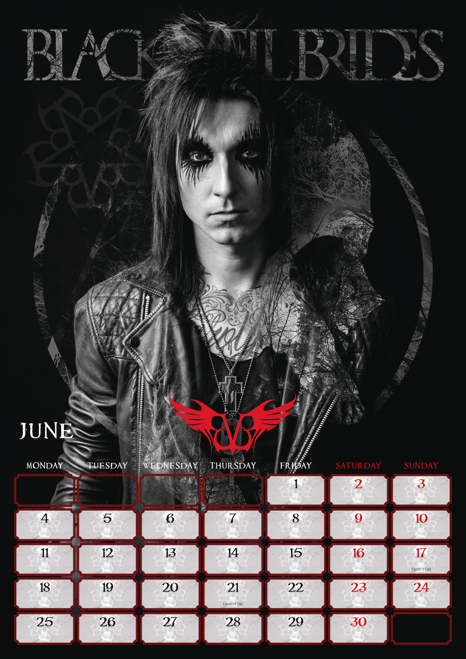 Black Veil Brides Tour Dates 2020 Black Veil Brides   Calendars 2020 on UKposters/Abposters.com