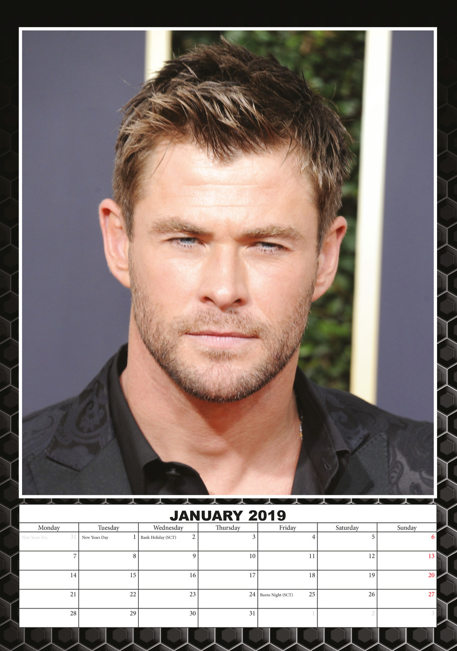 Chris Hemsworth - Calendars 2020 on UKposters/EuroPosters