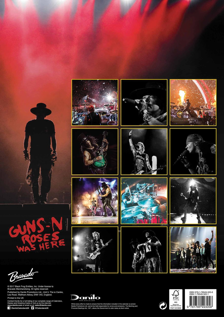 Guns N' Roses - Calendars 2020 on UKposters/Abposters.com