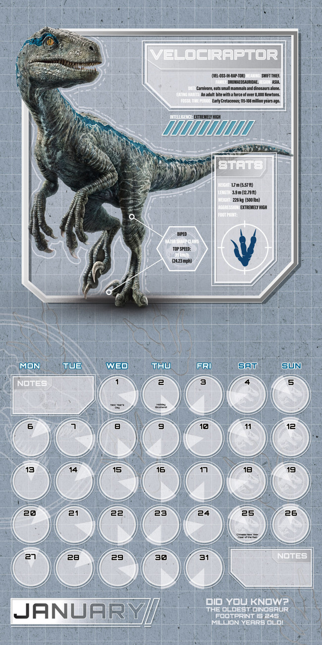 Jurassic World   Calendars on UKposters/Abposters.com