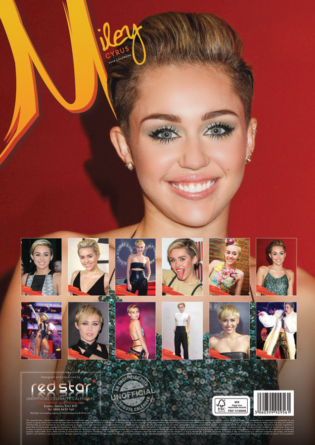 Miley Cyrus - Calendars 2019 on UKposters/EuroPosters
