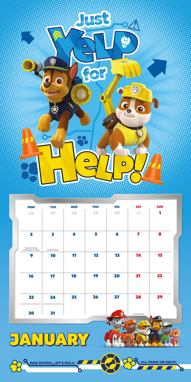 Paw Patrol - Calendars 2018 on EuroPosters