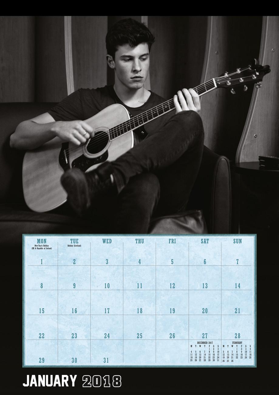 Shawn Mendes 2 2021 Calendario A3