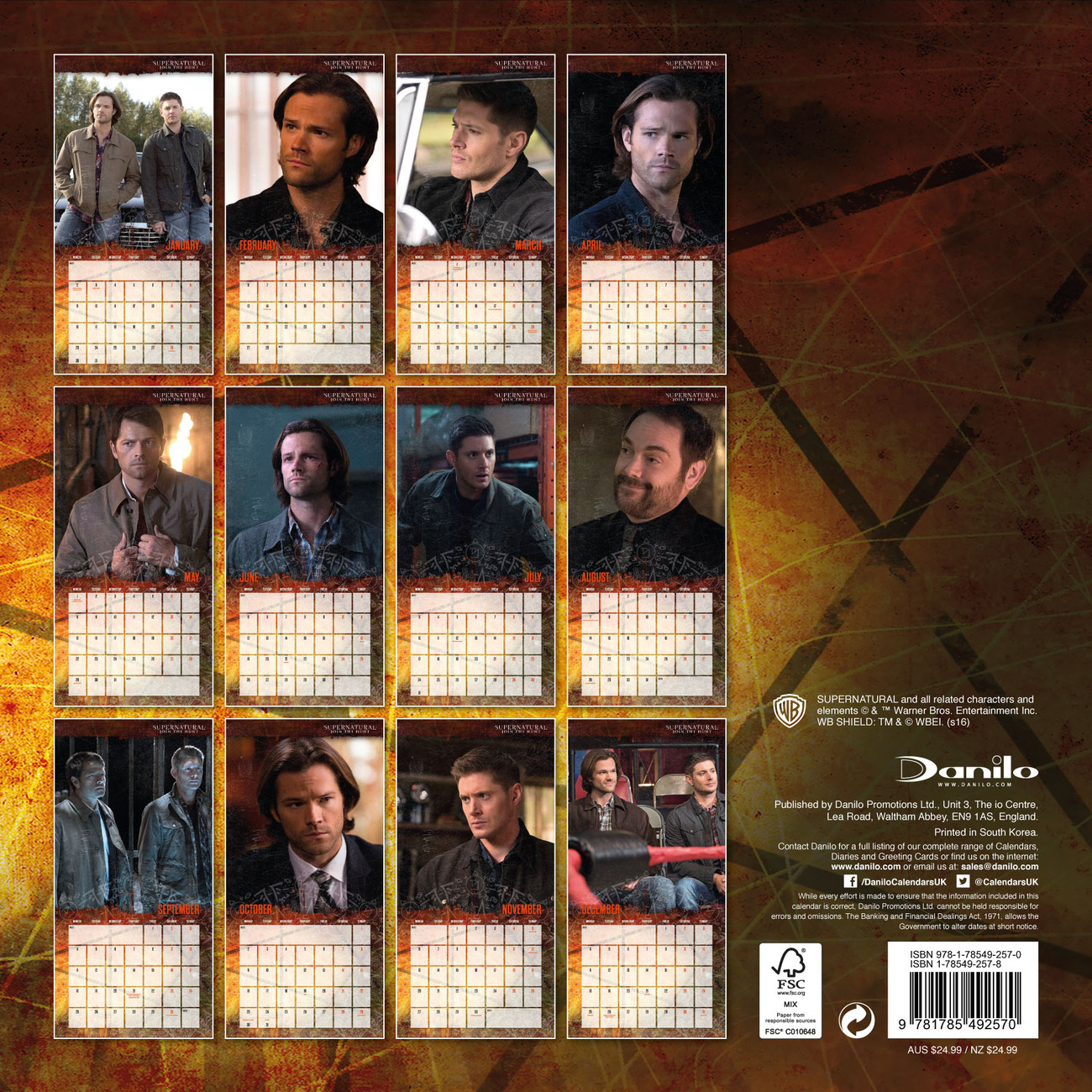 Supernatural Calendar 2020 Supernatural   Calendars 2020 on UKposters/Abposters.com