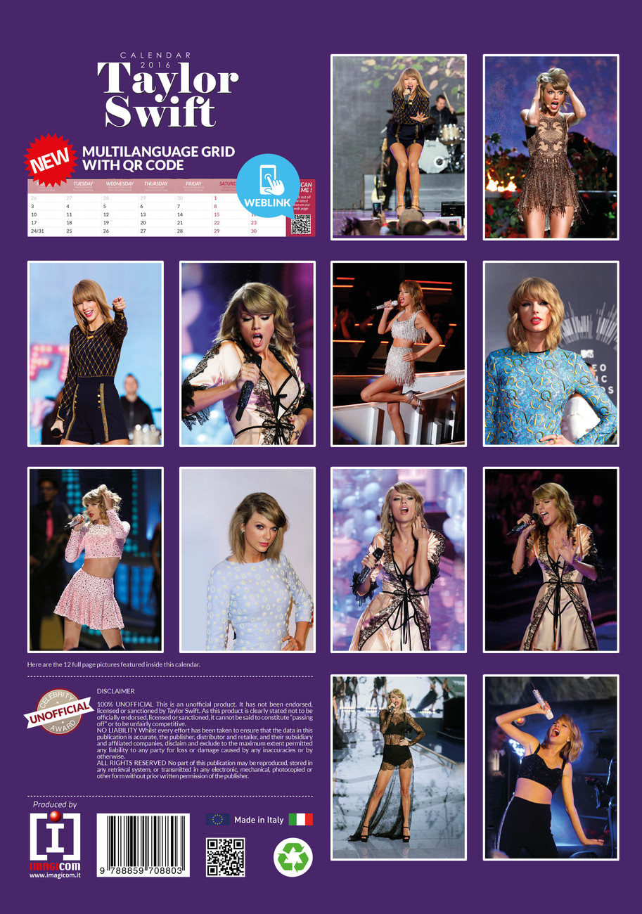 Taylor Swift 2020 Calendar Taylor Swift   Calendars 2020 on UKposters/Abposters.com