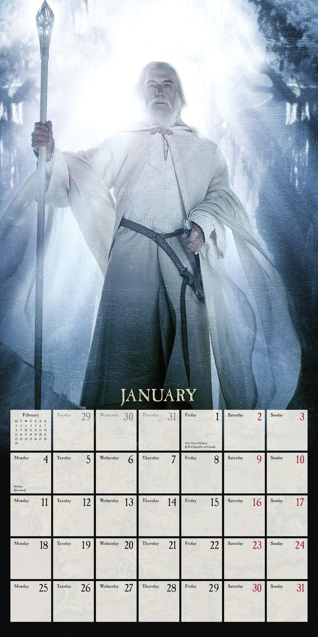 The Lord of the Rings - Calendars 2019 on UKposters/EuroPosters