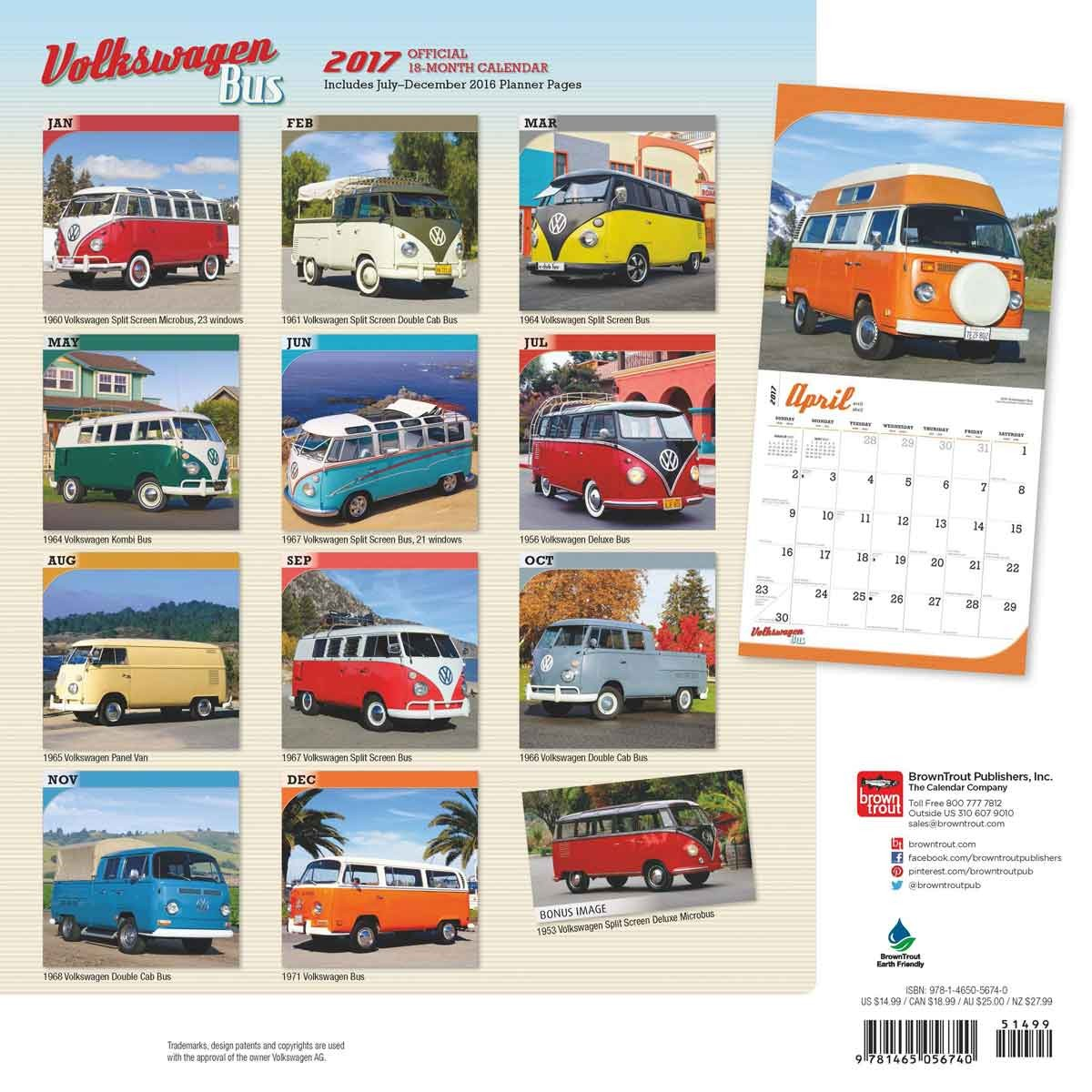 Volkswagen Bus Calendars 2019 On Ukposters Abposters Com