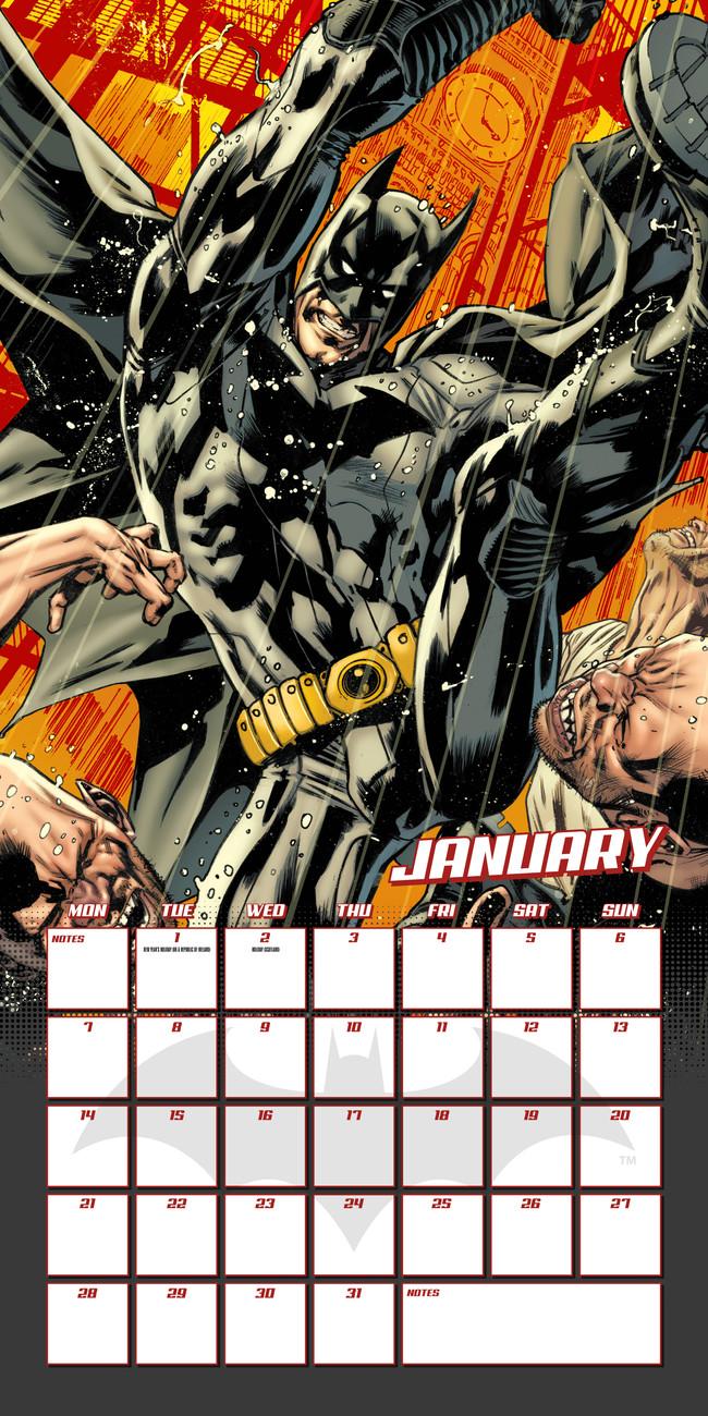 calendário 2019 batman comics em europosters.pt
