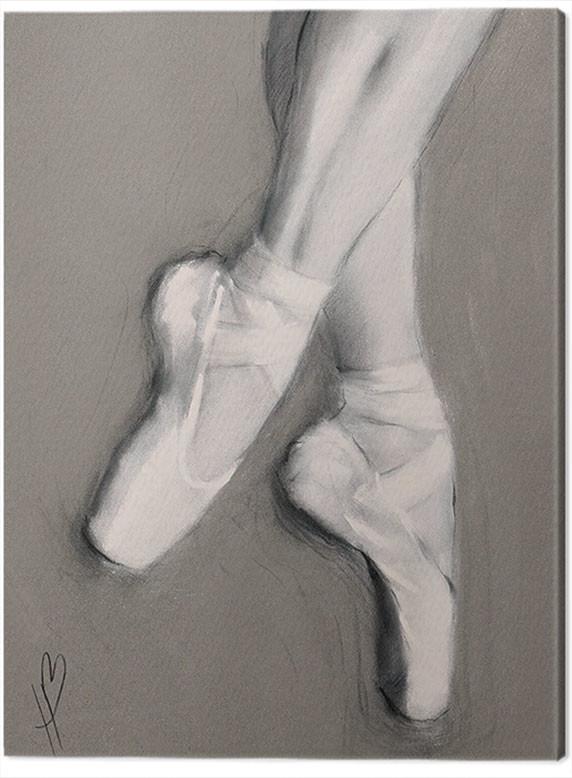 Hazel Bowman Dancing Feet 4 sizes available Canvas Print Wall Art