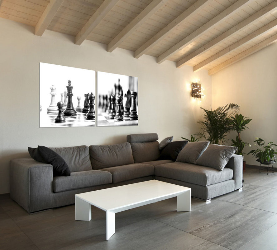 Chess - Black and White World Tableau Multi-Toiles