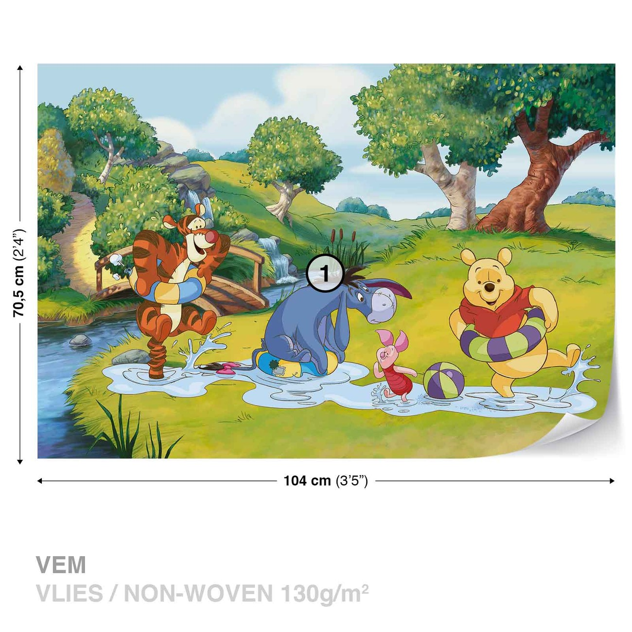 355b092af Murais de parede Disney Winnie Pooh Tigger Eeyore Piglet em ...
