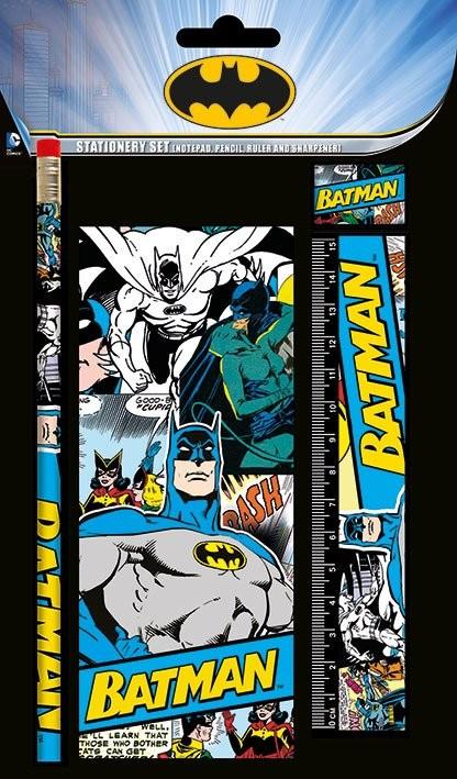 Dc comics stationery set batman retro fournitures de for Acheter fournitures de bureau