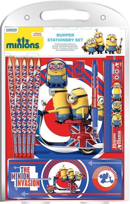 Minions british mod bumper stationery set fournitures de for Acheter fournitures de bureau