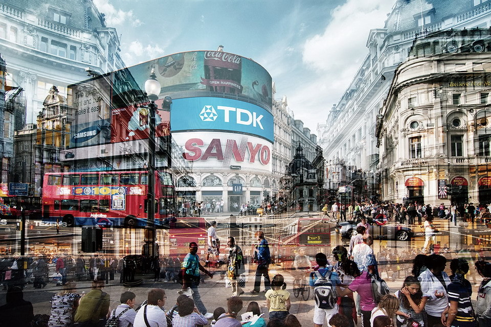 Wall Glass Art London Picadilly Circus Buy At