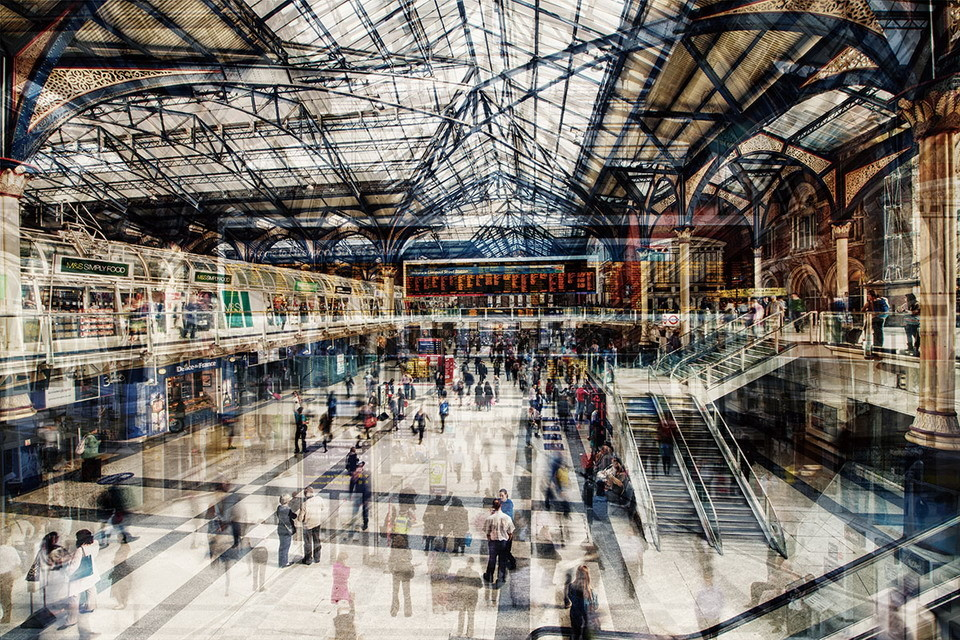 Wall Glass Art New York Grand Central Station Buy At