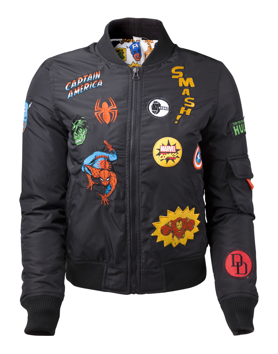 Marvel - Black Patches Jacket