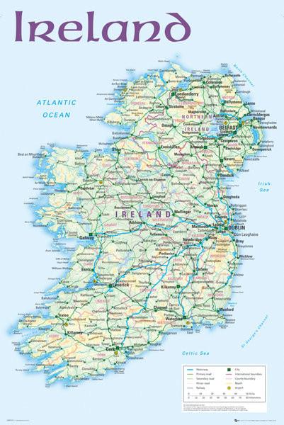 Irlanti Poliittinen Kartta Juliste Poster Tilaa Netista