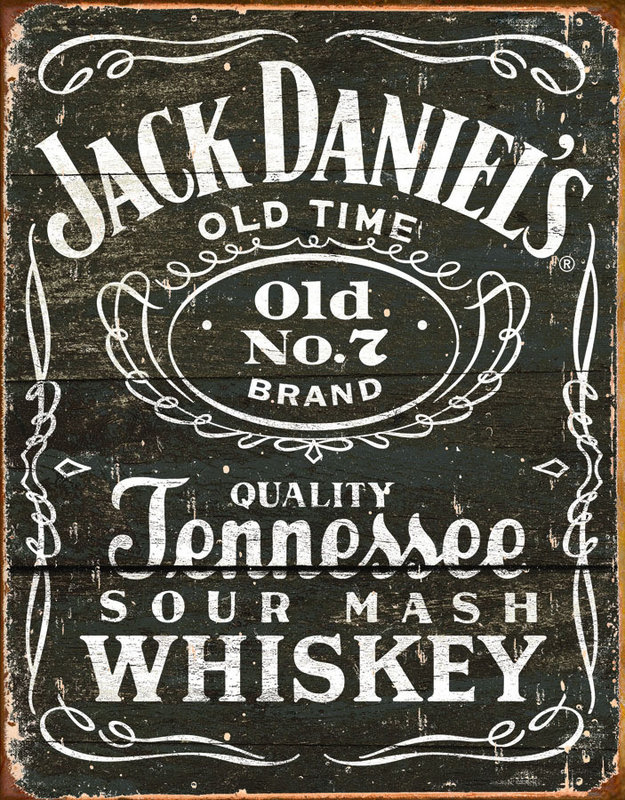 jack daniel 39 s vintage label tin signs metal signs sold. Black Bedroom Furniture Sets. Home Design Ideas