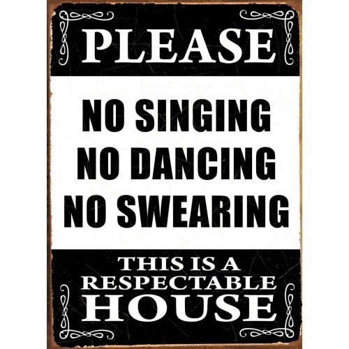 NO SINGING Tin Signs, Metal Signs | Sold at Abposters.com