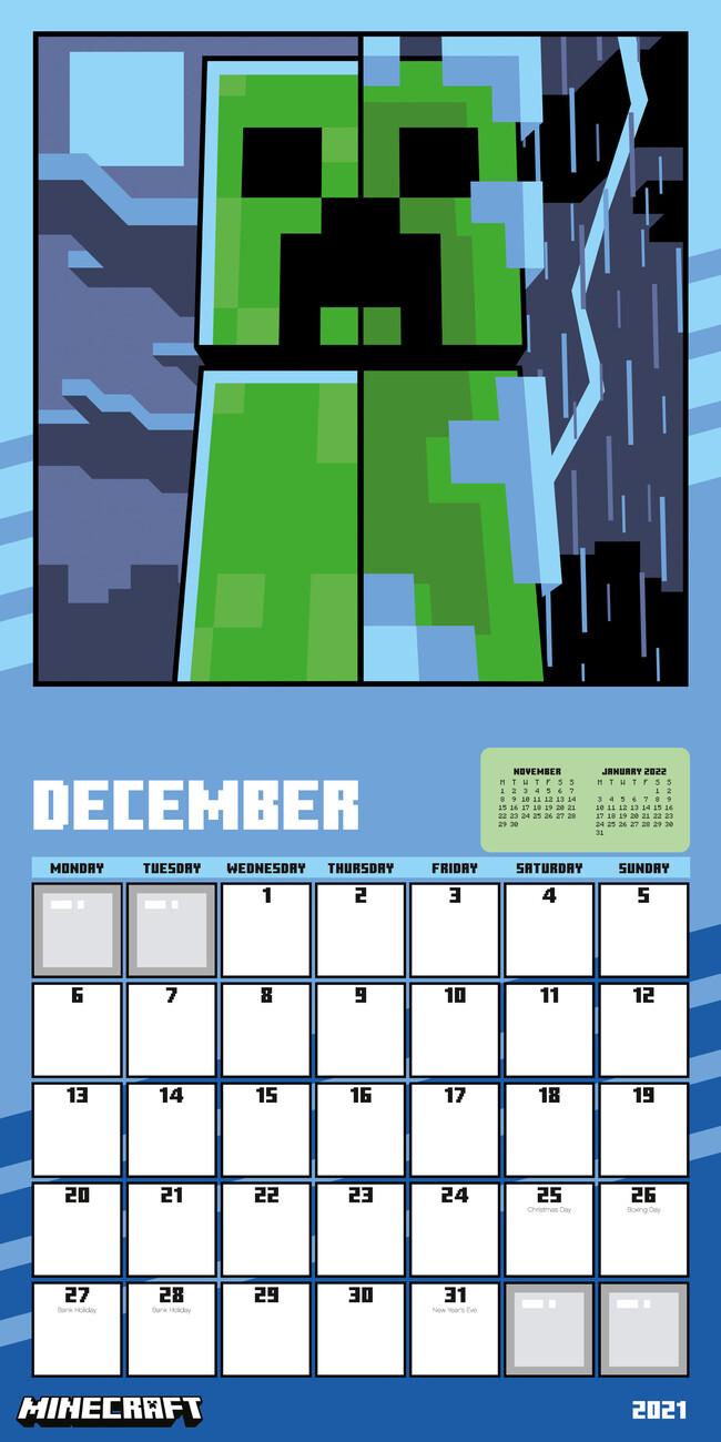 Calendar Minecraft
