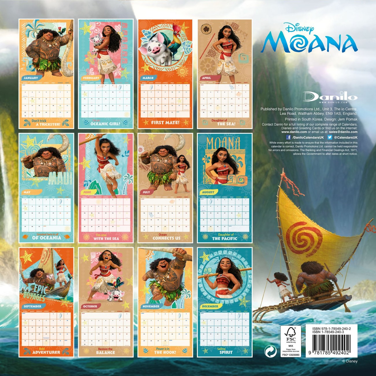 Pictures of Moana Calendar 2021