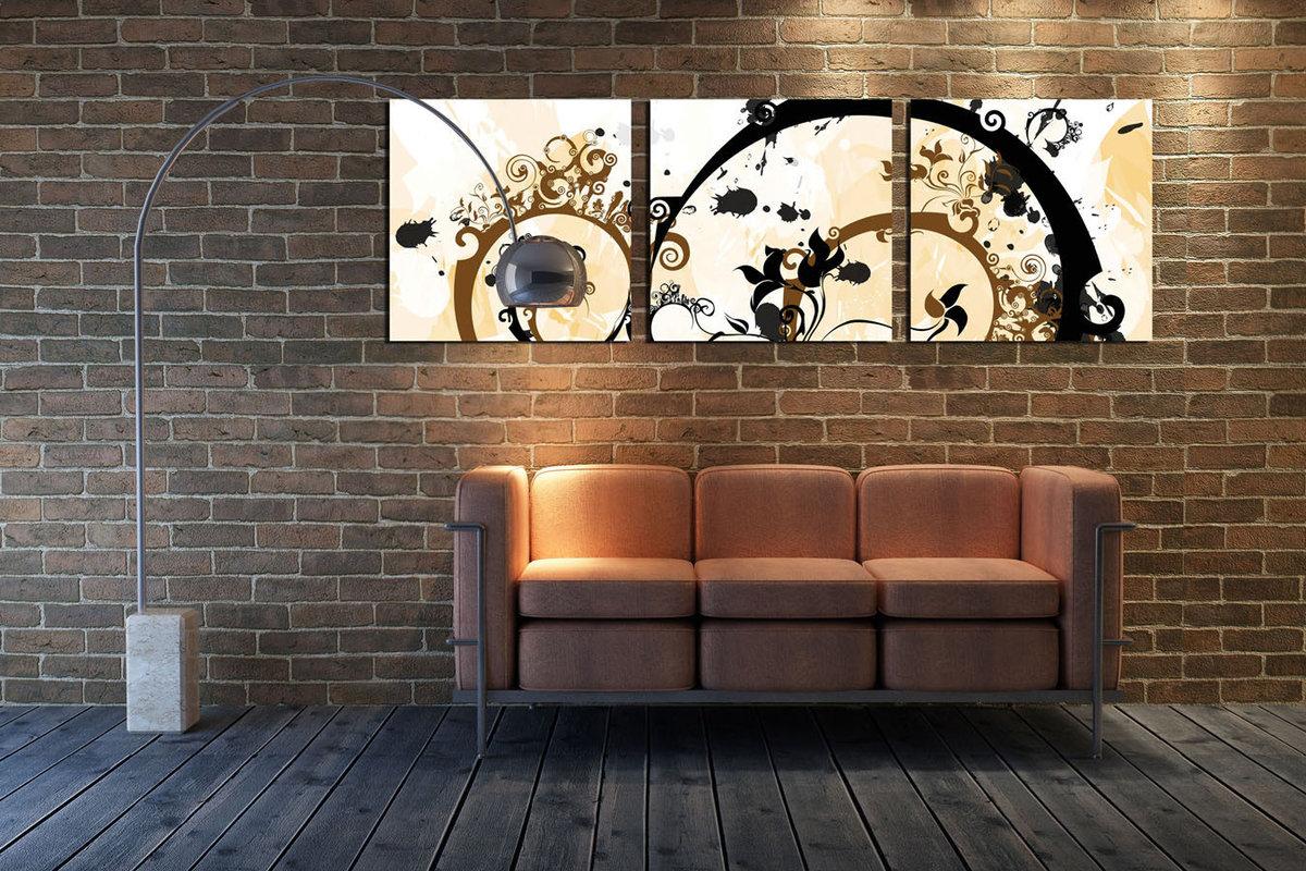 Modern Design - Flower Spirals Tableau Multi-Toiles