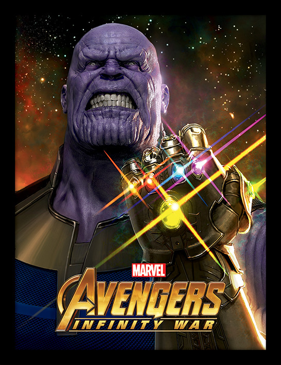 Avengers Infinity War Infinity Gauntlet Power Framed