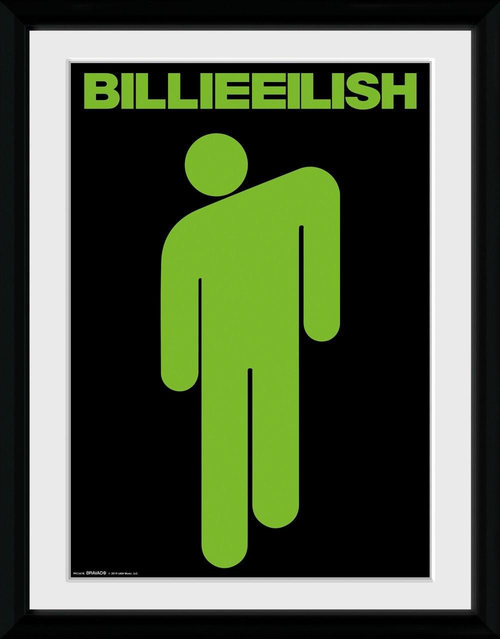*IT-00258 Theissen Billie Eilish Stickman P/óster mate Frameless Gift 11 x 17 pulgadas 28 x 43 cm
