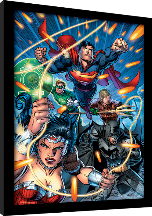dc comics justice league attack framed poster buy at europosters