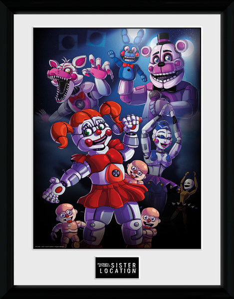 Five Nights At Freddys Sister Location Group Framed Poster Buy