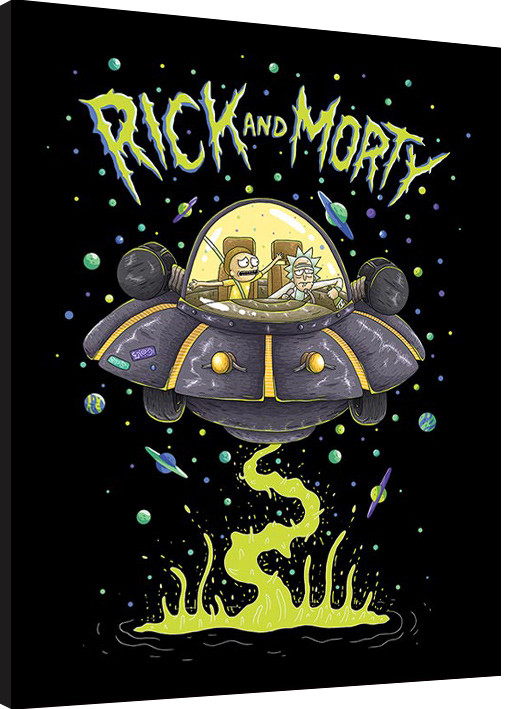 Rick And Morty Ufo Framed Poster Buy At Abposters Com