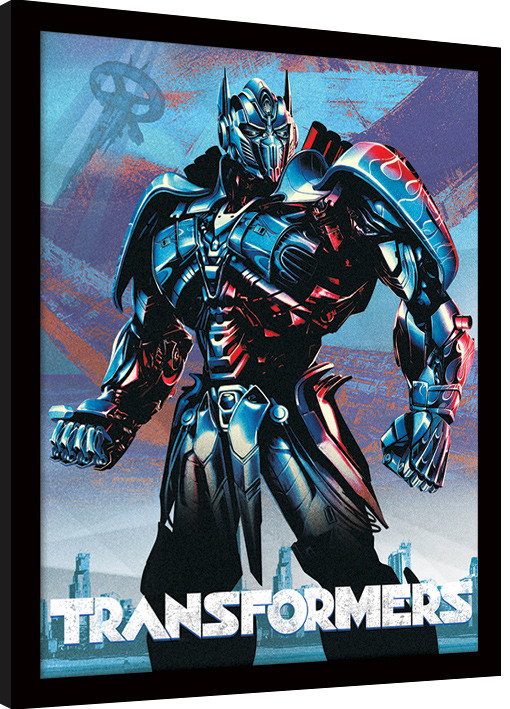 transformers the last knight optimus framed poster buy at ukposters. Black Bedroom Furniture Sets. Home Design Ideas