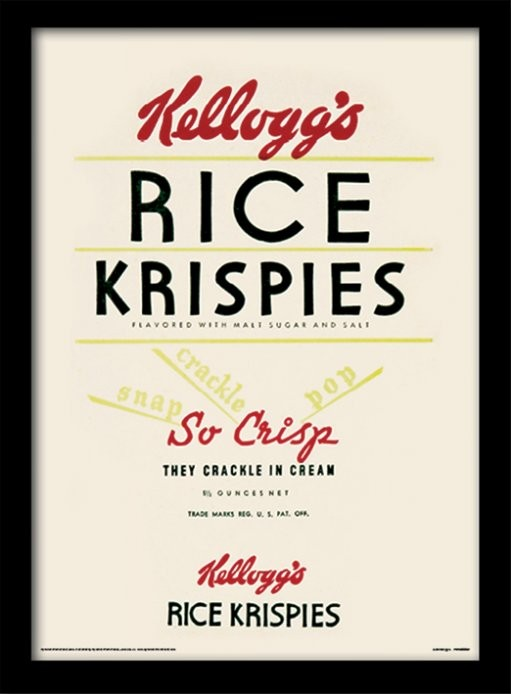 Vintage Kelloggs Rice Krispies Framed Poster Buy At