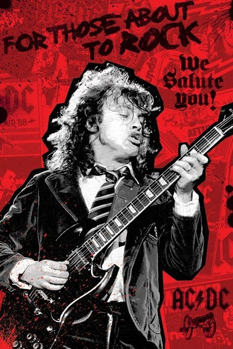 ac dc for those about to rock poster sold at. Black Bedroom Furniture Sets. Home Design Ideas