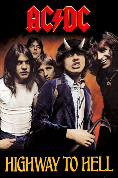 ac dc highway to hell poster sold at. Black Bedroom Furniture Sets. Home Design Ideas