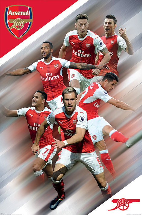 Arsenal FC - Players 16/17 Poster | Sold at Europosters