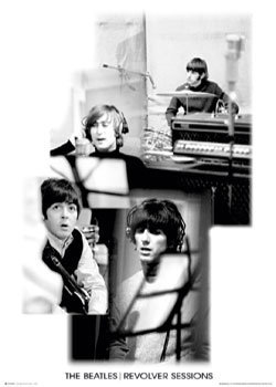 Beatles - revolver sessions b&w Poster