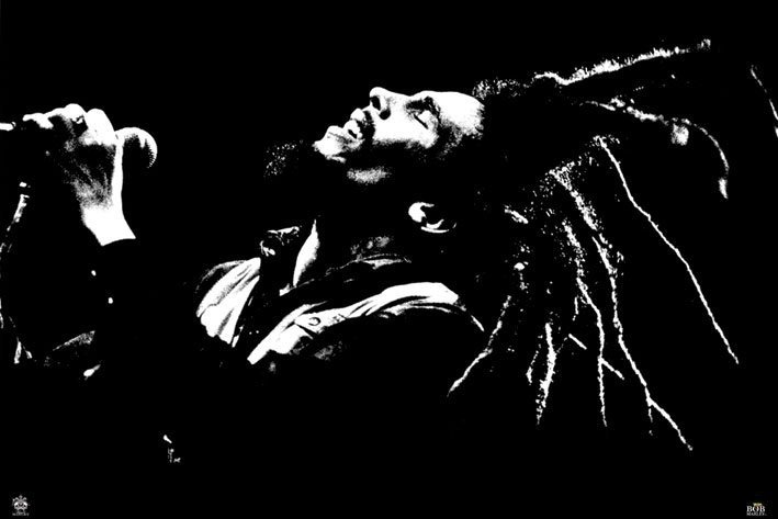 bob marley black white poster sold at europosters. Black Bedroom Furniture Sets. Home Design Ideas
