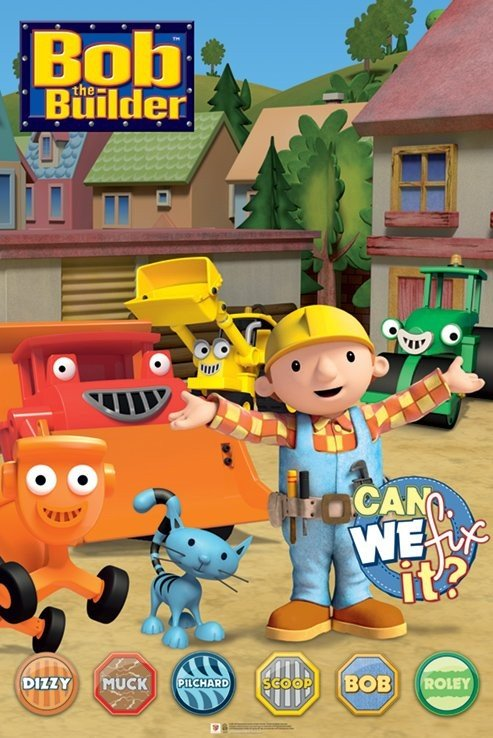Bob the builder characters poster sold at europosters for Bob the builder wall mural