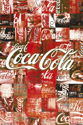 Fabulous Coca Cola - patchwork Poster | Sold at Europosters #FG33